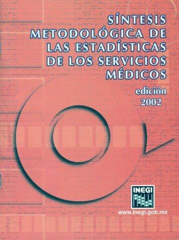 Síntesis metodológica de la estadística de los servicios ... - Inegi