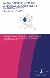 Atlas 2011 de la région Centre - Conseil National de l'Ordre des ...