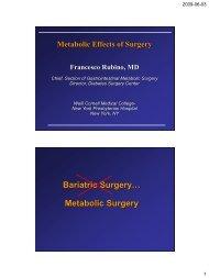 Bariatric Surgery… Metabolic Surgery - Obesitasdagar