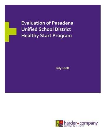 Healthy Start Family Centers - Pasadena Educational Foundation