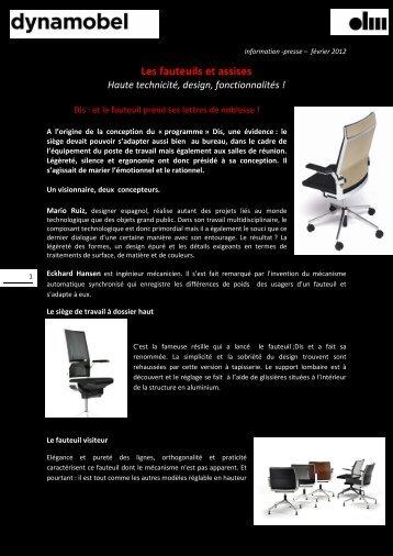 Les fauteuils et assises