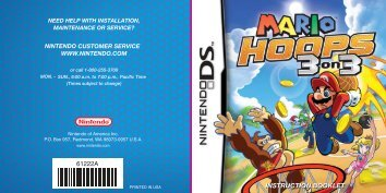 Mario hoops : 3 on 3 manual - Nintendo