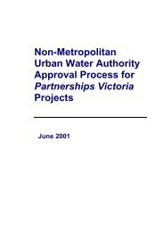 Non-Metropolitan Urban Water Authority Approval Process for ...