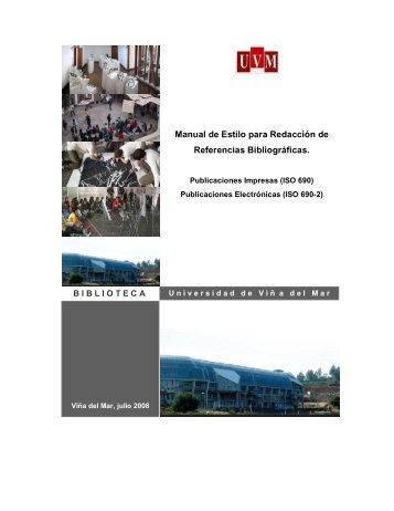 Manual de Estilo Biblioteca UVM.pdf - Universidad de Viña del Mar