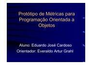 Protótipo de Métricas para Programação Orientada a Objetos