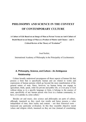 philosophy and science in the context of contemporary culture - STOQ