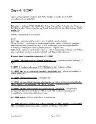 Zápis č. 13/2007 ze zasedání Zastupitelstva MČ Praha–Satalice ...