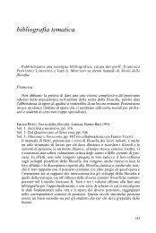 Bibliografia tematica di Storia della filosofia