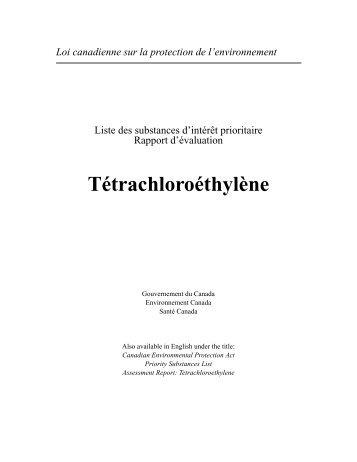 Liste des substances d'intérêt prioritaire - Rapport d ... - UQAC