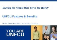 UNFCU Features & Benefits - Learning at UNOG
