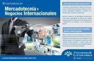 Mercadotecnia y Negocios Internacionales - Universidad La ...