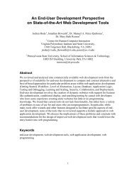 An End-User Development Perspective on State-of-the-Art Web ...