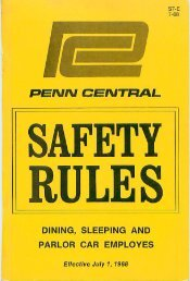 Safety Rulebook for Dining Car Employees - Unlikely Penn Central ...
