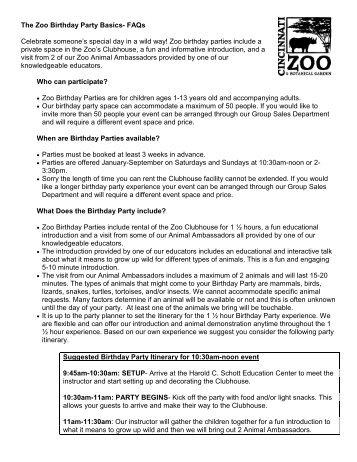 GOOD ZOO MEMBERSHIP FAQs Oglebay Resort