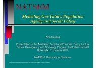 Modelling Our Future: Population Ageing and Social Policy