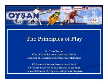 The Principles of Play - Ohio Youth Soccer Association North