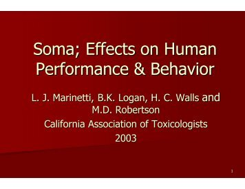 Carisoprodol - California Association of Toxicologists