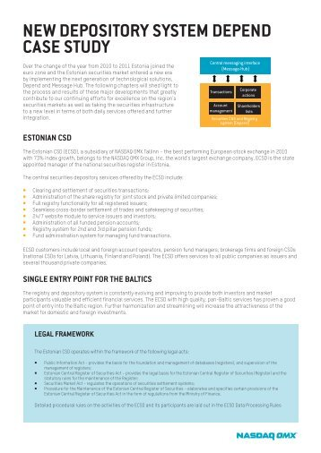 case study nasdaq Title: nasdaq omx relies on gemalto hsms to deliver a cloud offering secure enough for financial services case study author: gemalto subject: to deliver a cloud solution that is viable for the financial services market, nasdaq omx needed to ensure a host of stringent security policies and compliance mandates would be addressed.