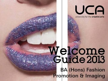 Guide: BA (Hons) Fashion Promotion & Imaging - UCA Community
