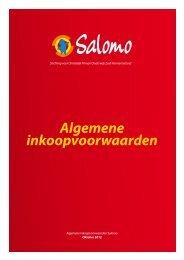 Algemene inkoopvoorwaarden - Salomo