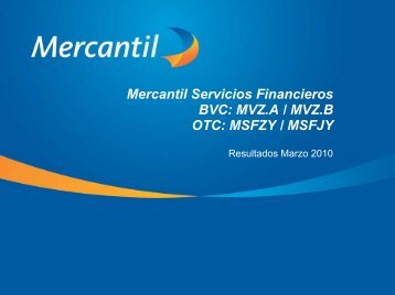 Diapositiva 1 - Banco Mercantil