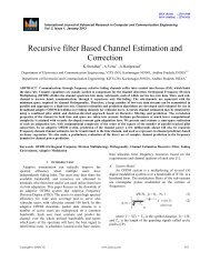 Recursive filter Based Channel Estimation and ... - Ijarcce.com
