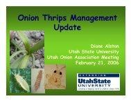 Onion Thrips Management Update - Utah Pests - Utah State University