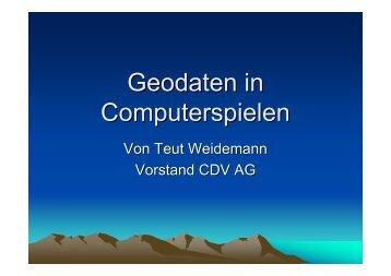 Geodaten in Computerspielen - Teut.net