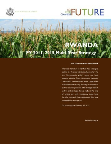 Feed the Future Multi-Year Strategy, Rwanda
