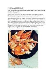 Wok Tossed Chilli Crab - Booktopia
