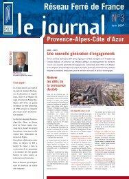 Le journal Provence-Alpes-Côte d'Azur n°3 - RFF