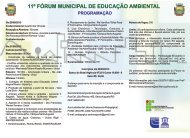Folder Fórum Ambiental 2013 Completo - Instituto Federal Farroupilha