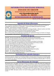 Informativo Semanal do dia 18 de Julho de 2010. - Diocese de Erexim