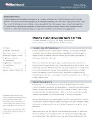 White Paper Making Planned Giving Work for You - Blackbaud, Inc.