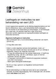 Leefregels en instructies na een behandeling van een LEO - Gemini ...