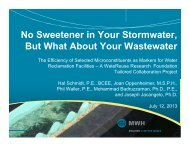 No Sweetener in Your Stormwater, But What About Your Wastewater