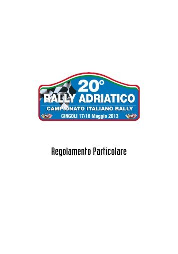 Regulations - ACI Sport Italia