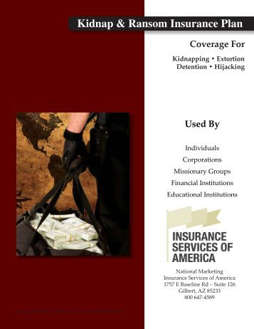 Kidnap-Ransom Brochure - Insurance Services of America