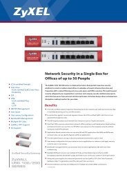 Network Security in a Single Box for Offices of up to 50 People - Zyxel
