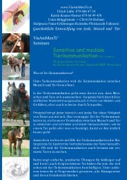 Sensitive und mediale Tierkommunikation Teil 1 und 2 - Horses.ch