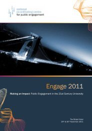 Engage 2011 - National Co-ordinating Centre for Public Engagement