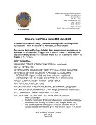 Commercial Plans Submittal Checklist - City of Yuma, Arizona