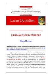 LQ 217 - Lacan Quotidien