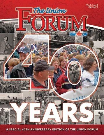 The Union Forum - Fall 2011 - FFAW