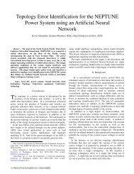 Topology error identification for the NEPTUNE power system using ...