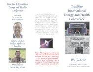 TrueRife International Energy and Health Conference 06/12/2010