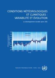 conditions météorologiques et climatiques - E-Library - WMO