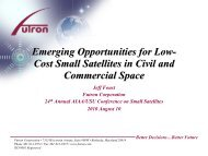 Emerging Opportunities for Low- Cost Small Satellites in Civil and ...