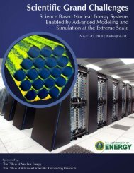 Science Based Nuclear Energy Systems Enabled by Advanced ...