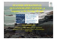 SPANISH OPERATIONAL OCEANOGRAPHY SYSTEM : a response ...